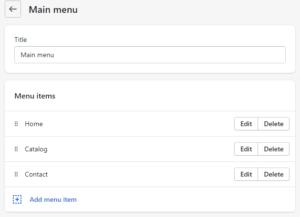 Shopify Naviagtion menu schema settings - tolmatol