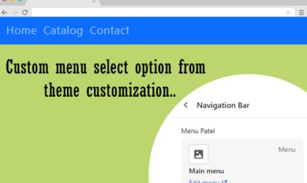 Naviation Menu create in shopify