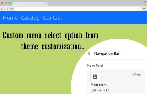 How to add shopify navigation bar menu