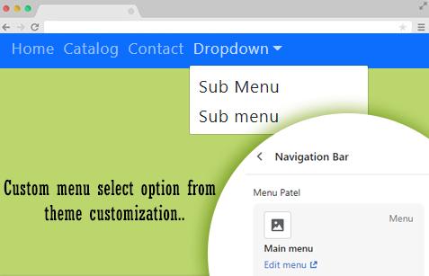How to add dropdown navigation bar menu
